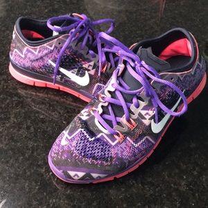 Nike free run 5.0 TR 4 purple/coral/gray/black